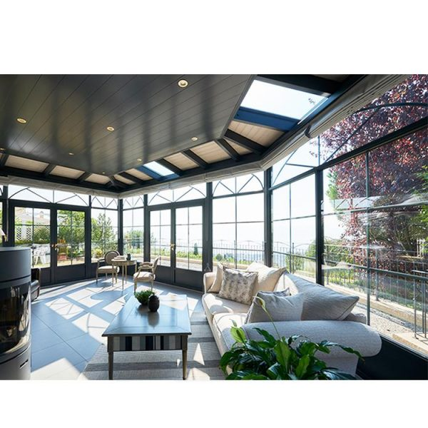 China WDMA Double Glazed Aluminum Winter Garden Portable Sunroom