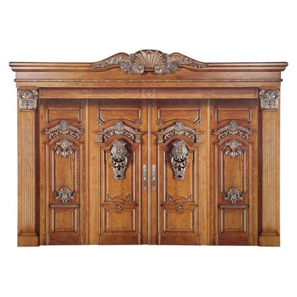 China WDMA Double Leaf Wooden Entry Main Door For Entrance