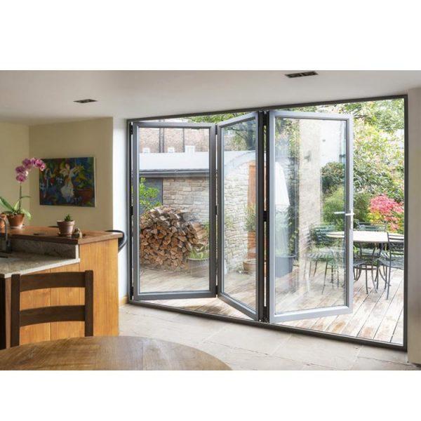 WDMA Energy Efficient Office Room Aluminum Bi Fold Screen Door
