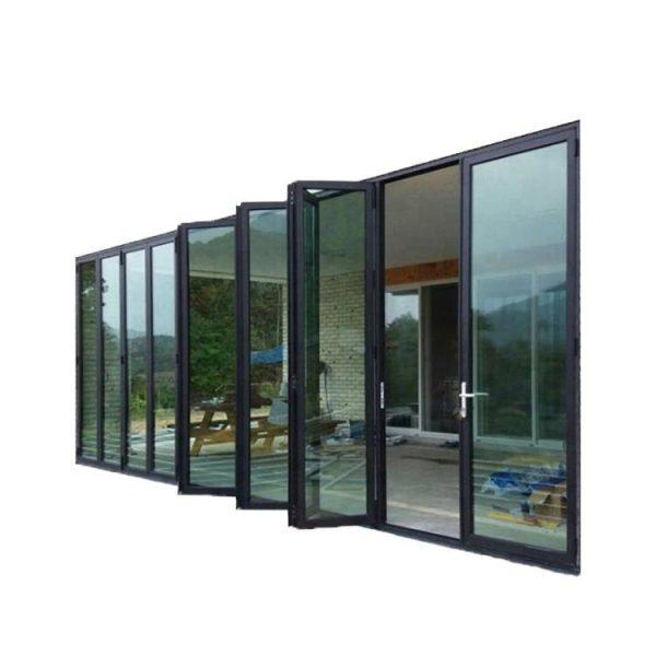 China WDMA Energy Efficient Office Room Aluminum Bi Fold Screen Door