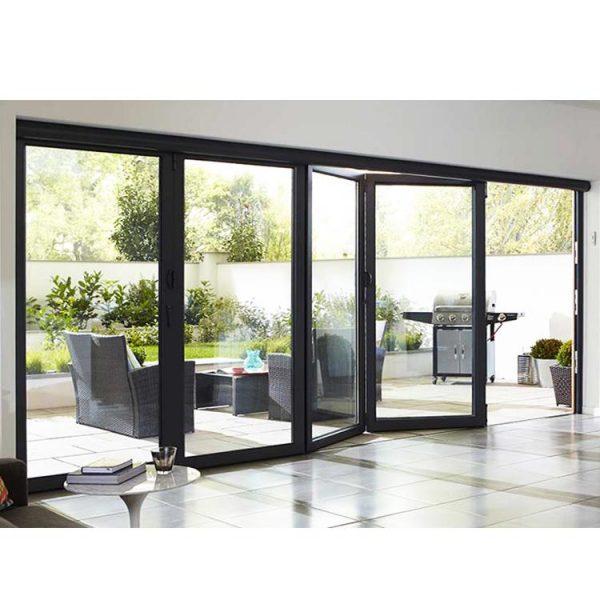 China WDMA Entry Pella Patio 10 Foot Folding Sliding Glass Doors Prices