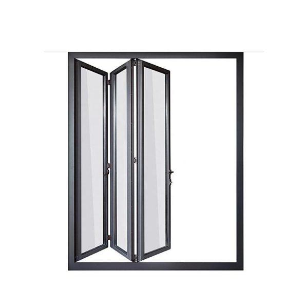 China WDMA European Design Small Frame Aluminum Folding Doors For Bathroom Inside Doors