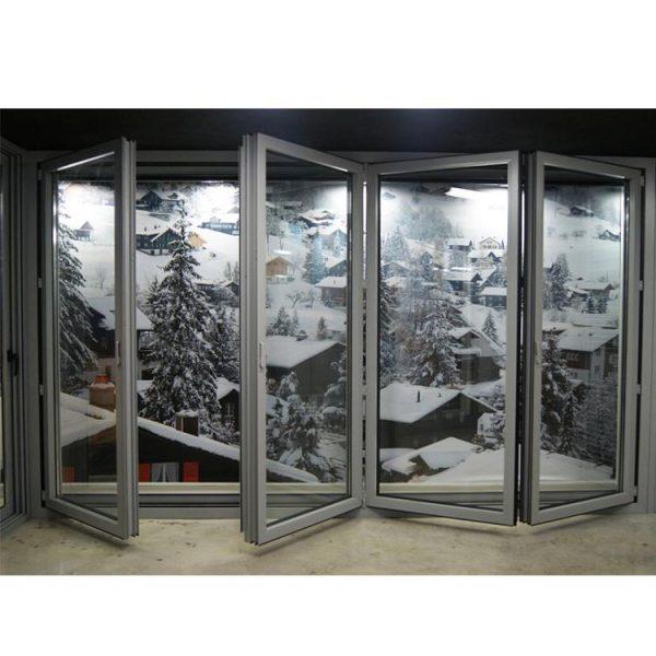 China WDMA Aluminium Folding Inside Doors