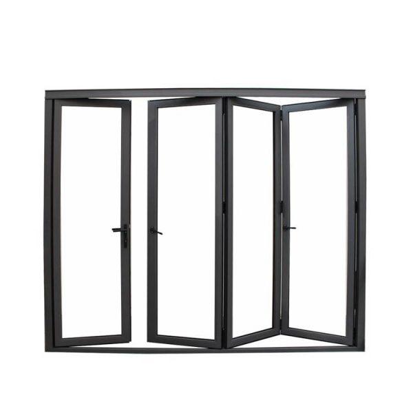 China WDMA European Design Thermal Break Folding Pocket Patio Screen Doors