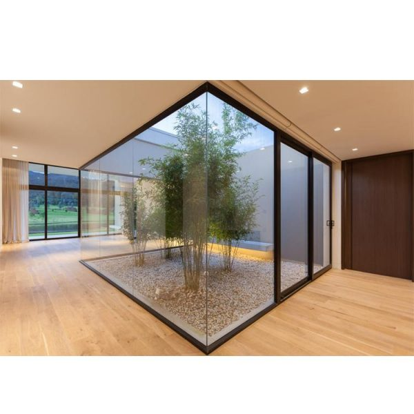 China WDMA European Profile Aluminum Single Glazed Fixed Window