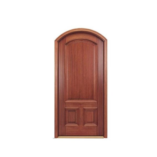 WDMA Exterior Mahogany Hollow Core Flat Glass Insert Solid Wood Main Entranc Front Door For Home