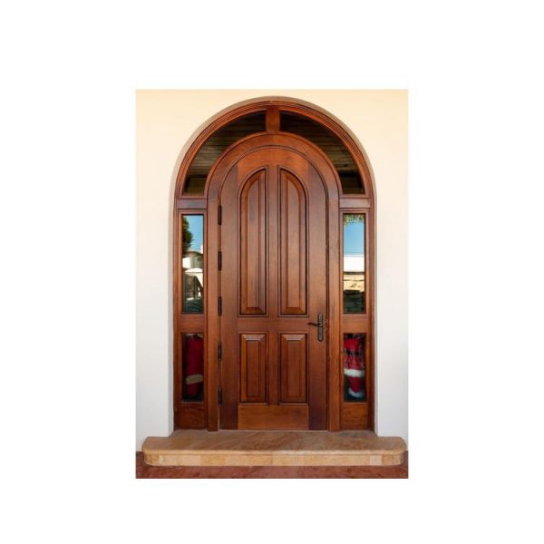 WDMA Exterior Paint Double Solid Nyatoh Merpauh Finger Joint Wood Framed Front Pocket Fire Resistant Door With Beveled Glass For Home
