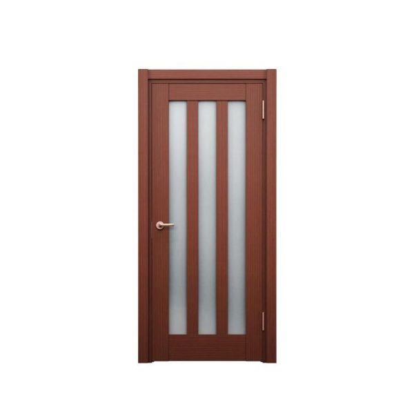 WDMA double wood front door with glass