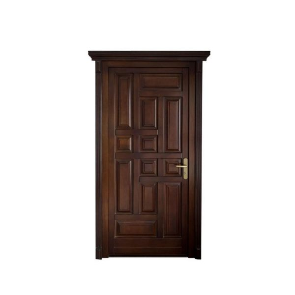China WDMA double wood front door with glass Wooden doors