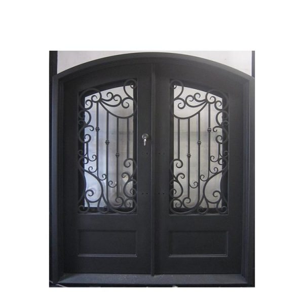 China WDMA wrought iron door double