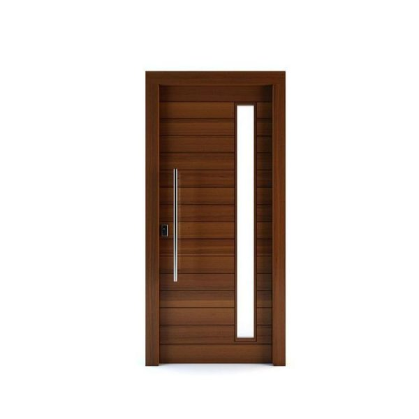 China WDMA Exterior Solid Wood Large Entry Main Doors Home Pivot Design