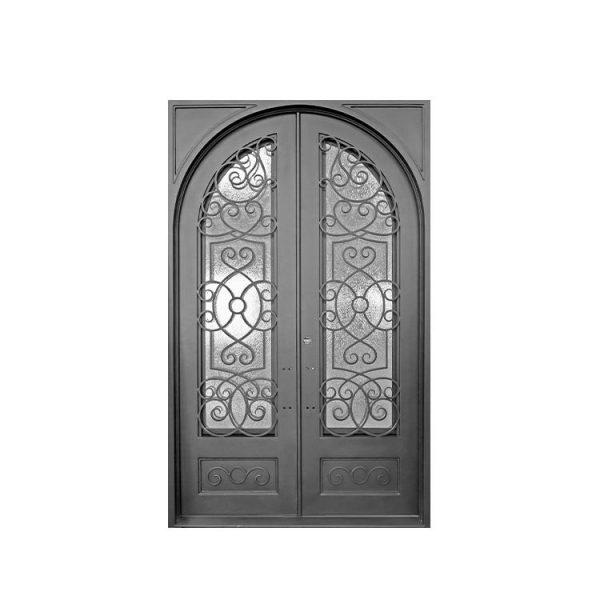 China WDMA Exterior Wrought Iron Entry Door Front Door Design