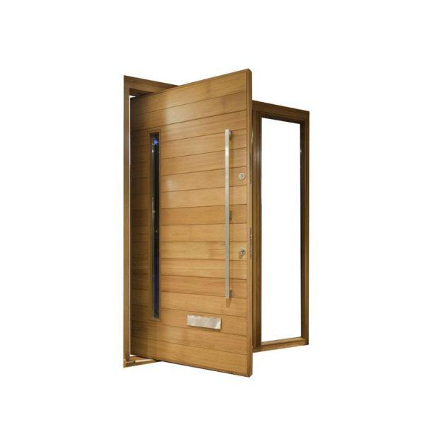 WDMA External Solid Wooden Entrance Door Modern Pivot Main Door