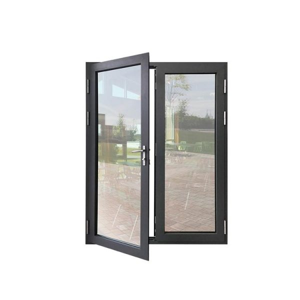 China WDMA Fabrication Of Thermal Break Aluminum Door And Window System With Tempered Fireplace Glass Sauna Door Design
