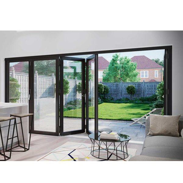 WDMA Factory Horizontal Blinds Sliding Glass Doors Accordion