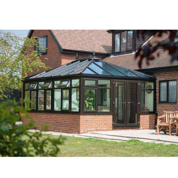 WDMA Feelingtop Laminated Safety Glass Villa And Garden House Polygon Roof Molding Aluminum greenhouse