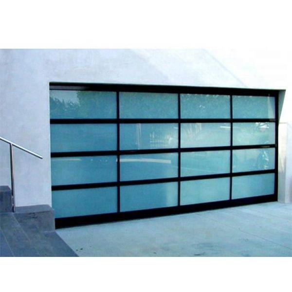 WDMA Flap Style 9x7 Folding Frosted Tempered Glass Garage Door Aluminium Sandwich Panel Price