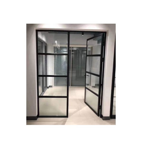 WDMA Aluminum Frame Glass Swing Door