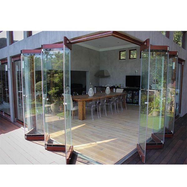 WDMA Frameless Glass Exterior Bifold Door