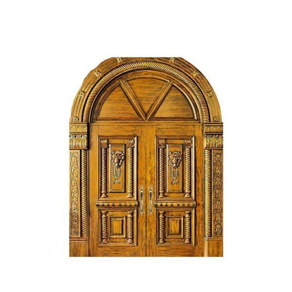 China WDMA French Wooden Door Exterior Teak Wood Double Main Double Door Designs Wood Doors