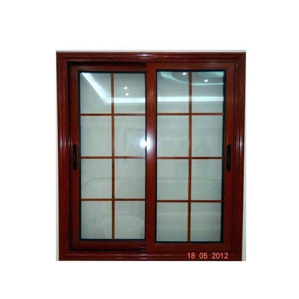 WDMA brown glass window Aluminum Sliding Window