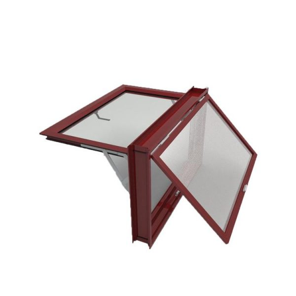 China WDMA Global Building Projects Swing Open Small Window Frosted Double Glazed Aluminum Alloy Awning Door And Window