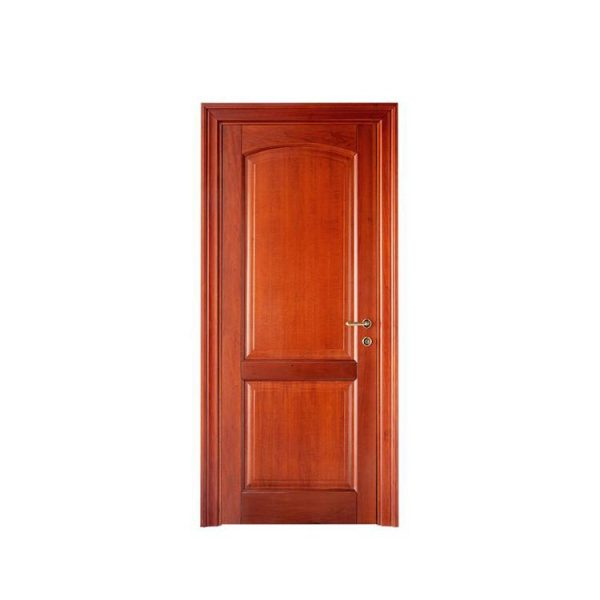 China WDMA Handmade Luxury And Modern Double Engraved Carved Main Gate Entrance Lacquered Cherry Wooden Door With Carving Diamond And Crown