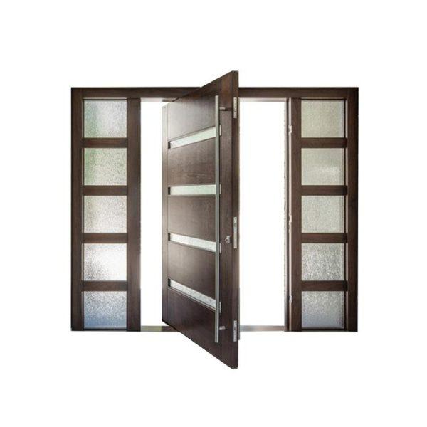 WDMA Heavy Duty Hinges Glass Pivot Wood Door Modern Entry Door Exterior Door