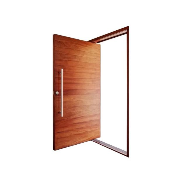 China WDMA Heavy Duty Hinges Glass Pivot Wood Door Modern Entry Door Exterior Door