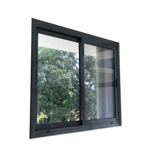WDMA Horizontal Pattern Three Panel Triple Pane Interior Metal Office Glass Sliding Window Design