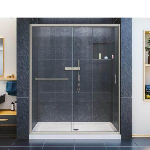 China WDMA Hotel Bathroom Straight Shower Door Shower Room Shower Cabin Price