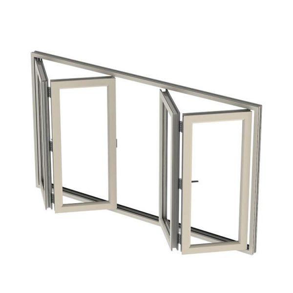 WDMA folding glass window Aluminum Folding Window