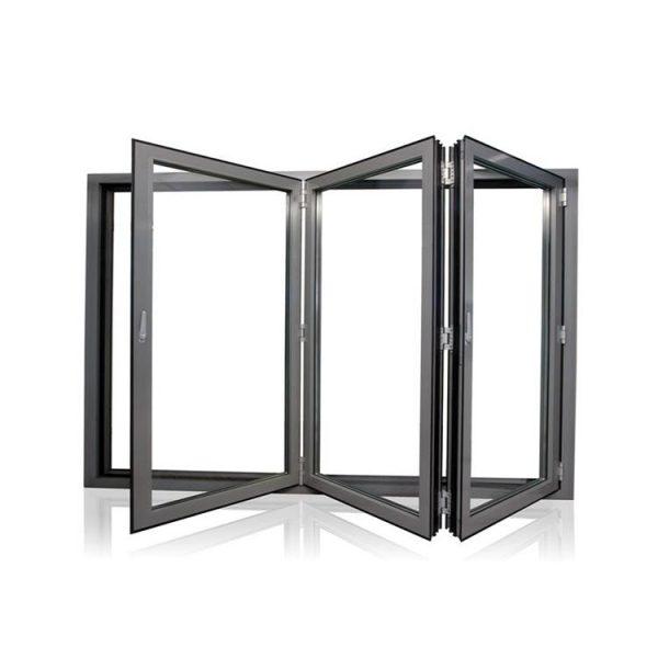 China WDMA folding glass window Aluminum Folding Window