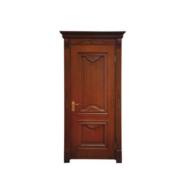 China WDMA Kerala Solid Teak Wood Main Entrance Door Designs