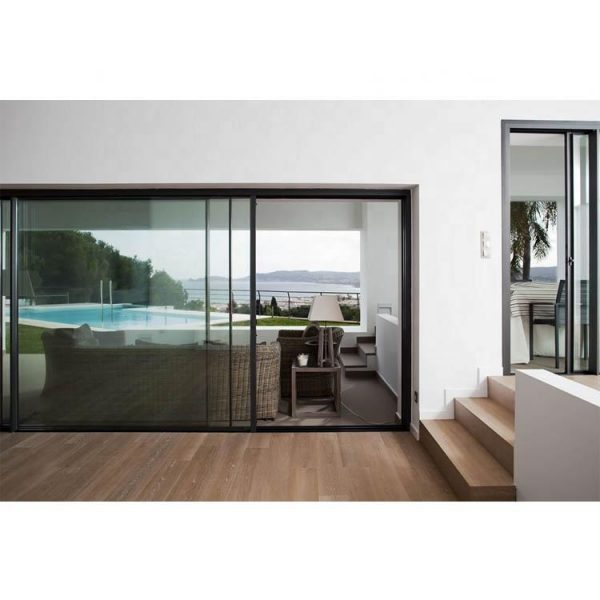 WDMA Black Frame Glass Doors