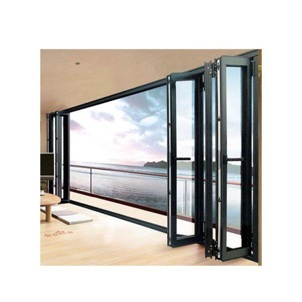 WDMA bifolding door with movable fly screen Aluminum Folding Doors