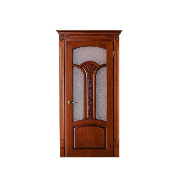 China WDMA Light White Color Custom Interior Solid All Roswood Wood Door And Window Design For Houses Residential