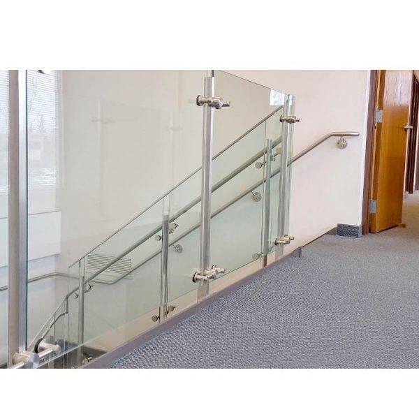 WDMA Lobby Staircase Pipe Railing Mild Stainless Steel Bronze Balustrade Handrail