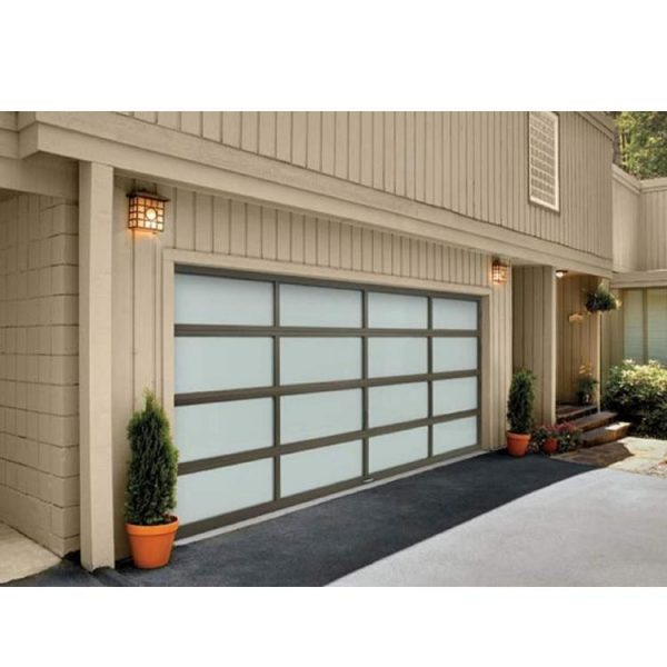 WDMA Low Price Residential Stainless Steel Vertical Bifold Remote Garage Door Sectional