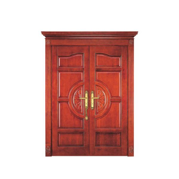 China WDMA luxurious interior wooden door decorated glass