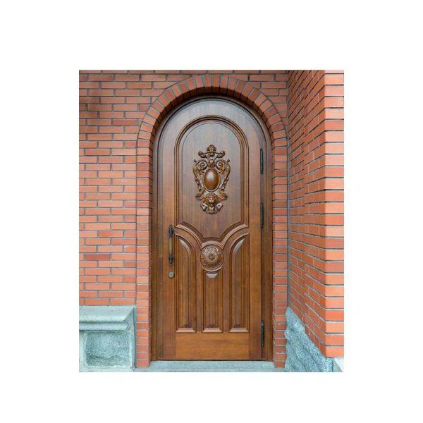 China WDMA Mahogany Solid Wood Front Door Carving Design