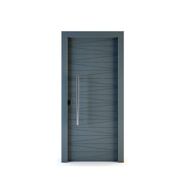 China WDMA Mdf Door Material Interior Semi Solid Wooden Door