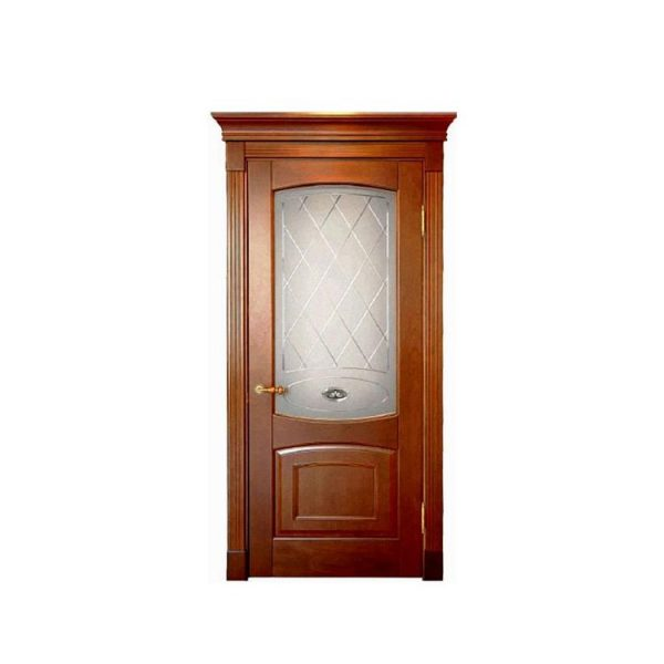 China WDMA Modern Artificial Small Round Top Tropical Beech Teak Ornament And Alder Solid Wood Double Lattice Door Models For Apartment And