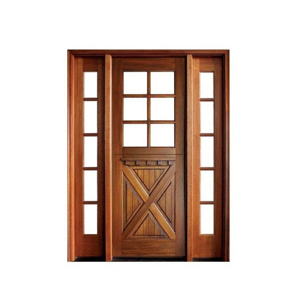 China WDMA Modern Design Of 32 X 79 Exterior Main Wooden Door With Polish Color Small Door For Sale