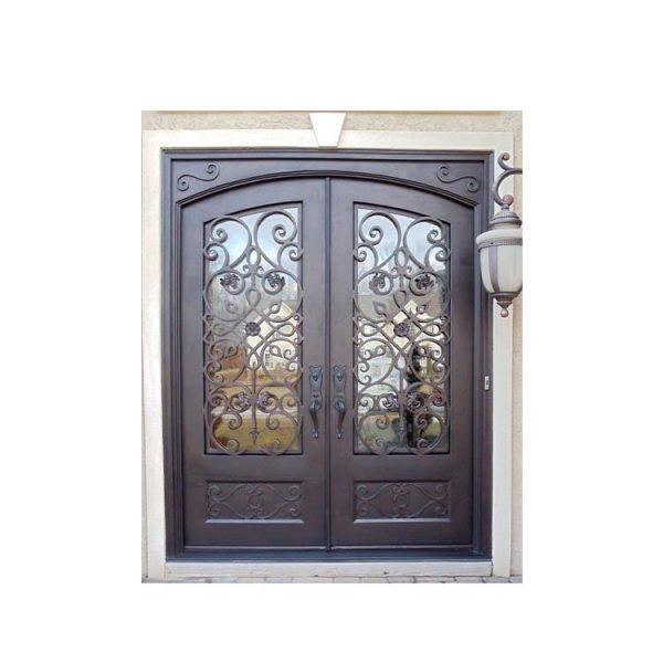 WDMA antique wrought iron garden gate
