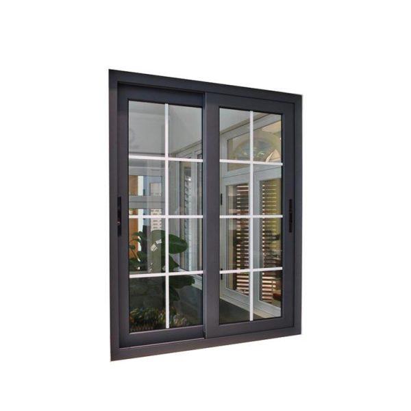 China WDMA aluminium sliding window with iron grill