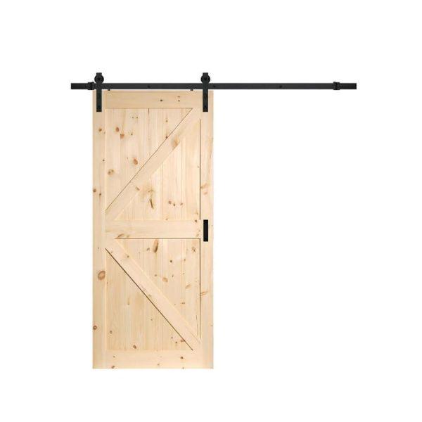 WDMA Modern Solid Wood Pocket Doors Sliding Barn Door Designs