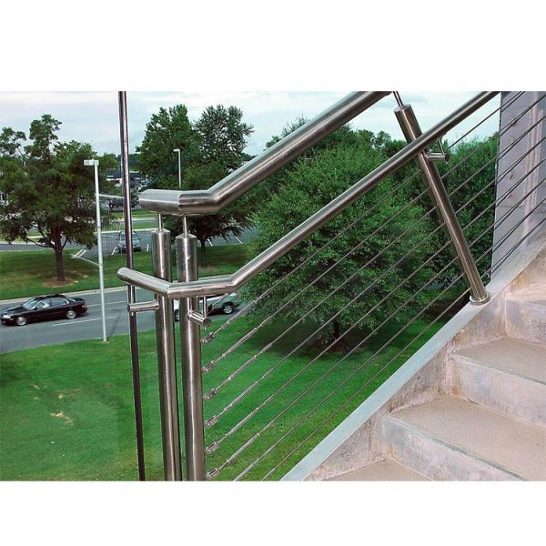 China WDMA Modern Terrace Front Porch Balcony Metal Stair Hand Railing Balusters Outdoor Design