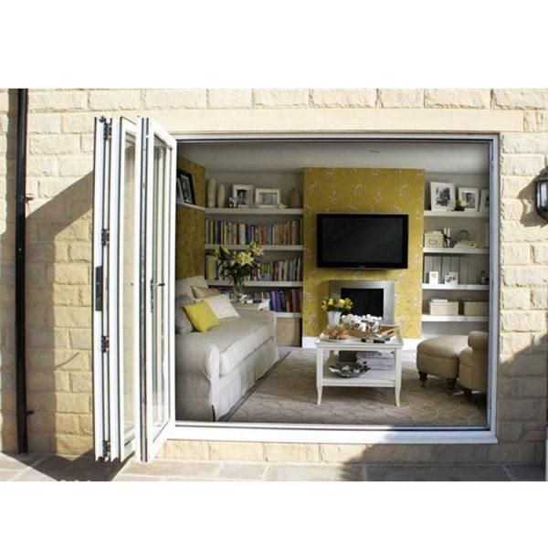 WDMA Nafs 2011 American Standard Commercial Double Glass Aluminum Outdoor Folding Door