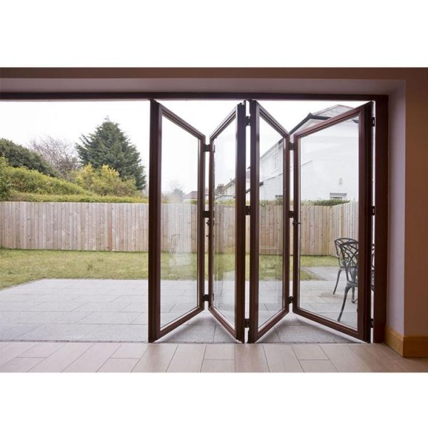 China WDMA Nafs 2011 American Standard Commercial Double Glass Aluminum Outdoor Folding Door